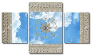 Небо в крупной раме с круговым орнаментом в центре