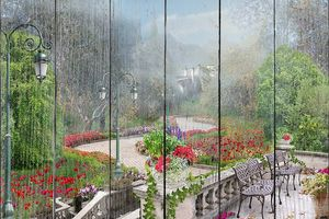 Живописный парк с цветами