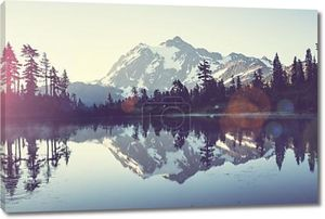 Picture of  lake in mountains