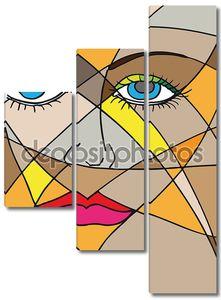 Абстрактное лицо женщины. Векторные иллюстрации