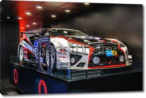 FRANKFURT - SEPT 2015: Lexus LFA WRC WTCC presented at IAA Inter