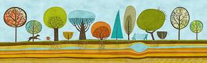 Стилизованный парк