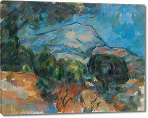 Поль Сезанн. Гора Сент-Виктуар над дорогой Толонет (с зонтичной сосной)