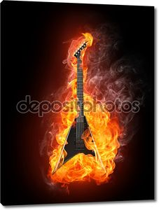 Электрогитара в огне