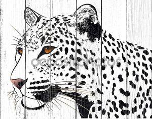 Абстрактный леопард