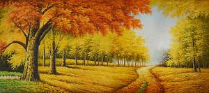 Засыпанная листвой аллея