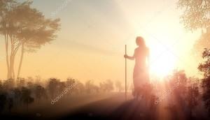 Силуэт Иисуса