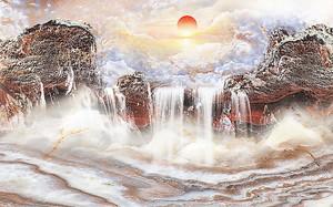 Водные пороги на камне