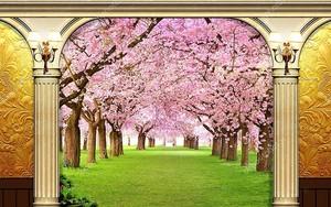 Весна, цветущая аллея