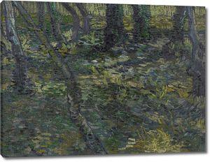 Ван Гог. Подлесок с плющом