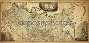 Старая карта России, напечатаны в 1786