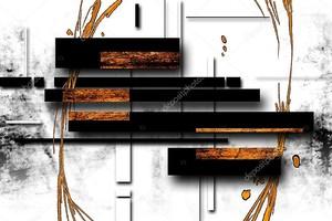 Абстрактная иллюстрация маслом