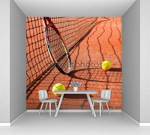 Теннисный корт грунтовый