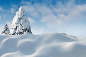 Рождественская открытка снег фото.