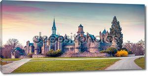 Закат в Wilhelmshohe замке