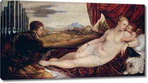 Тициан. Венера и органист