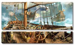 Вид с палубы пиратского корабля