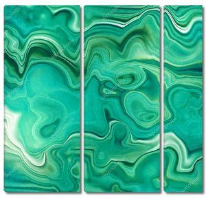 абстрактный фон, поддельная каменная текстура, изумрудно-зеленый малахитовый яшмень агат или мраморная плита с венами, волнистые линии моды печать, окрашенные искусственные мраморные поверхности, художественная мраморная иллюстрация