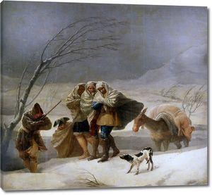 Гойя и Лусиентес Франсиско де. Зима (вьюга)