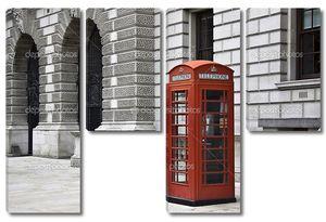 Красный телефон в Лондоне