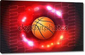 Баскетбольный турнир кронштейн Иллюстрация