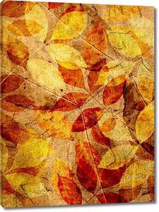 Гранж-фон с листьями