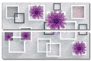 Астры с квадратами