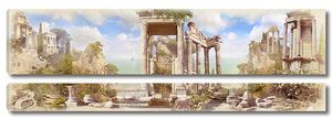 Панорама с античными колоннами
