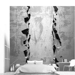 Тёмное треснувшее отверстие в бетонной стене