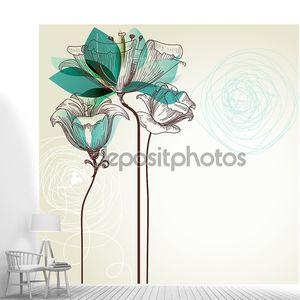 Ретро цветочный фон