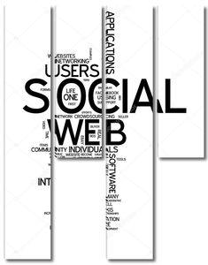 социальная сеть облака слова