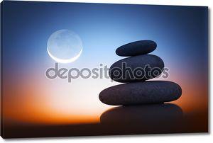 Zen камни в ночное время