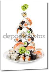 Суши, падение в пластине