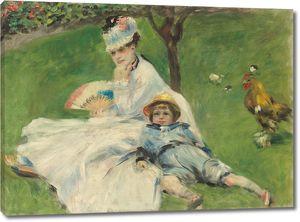 Пьер Огюст Ренуар. Мадам Моне и ее сын