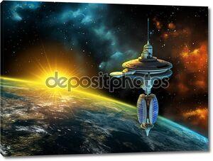 Космическая станция у Земли