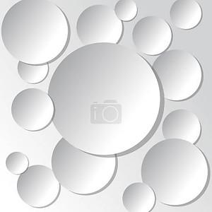 Белой книге круг баннер с тенями. Векторные иллюстрации