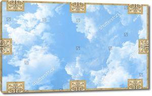 Небо с восемью прямоугольными узорами