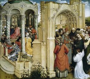 Робер Кампен. Обручение Девы Марии