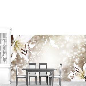 Лилии на сверкающем фоне