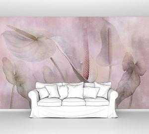 Каллы в розовом тумане
