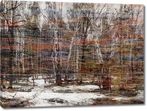 Зимний лес на кафеле