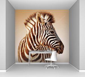 портрет зебры