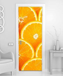 Фон из долек апельсинов