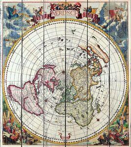 Красивая карта в виде круга