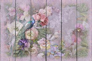Фреска волшебный сад с диковинной птицей