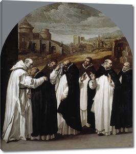 Кардучо Висенте. Святой Бруно прощается с товарищами в Риме