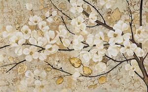 Сакура с золотыми листочками