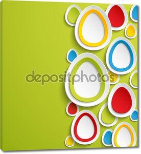 Пасхальные яйца абстрактный красочный фон.
