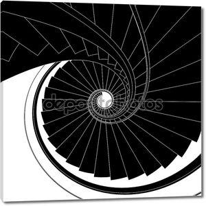 Спиральная лестница вектор