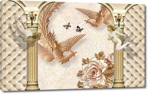 Жар-птицы в арке с колоннами
